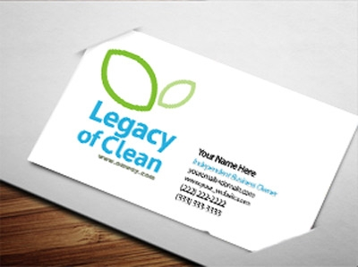 legacy of clean business card design 2