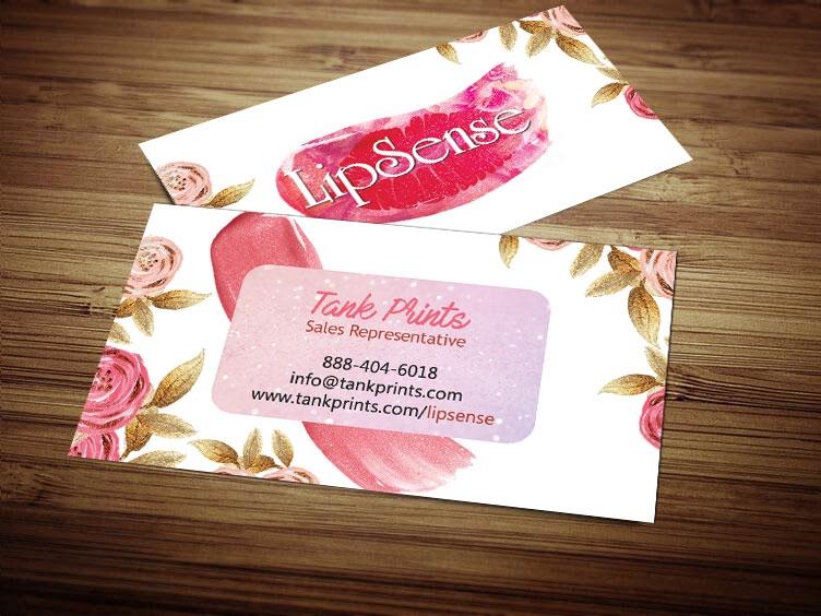 Beautiful LipSense Business Card Design 4 OY18