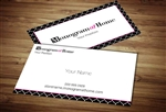 Monogram at Home Business Card Template 1