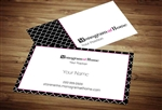 Monogram at Home Business Card Template 2