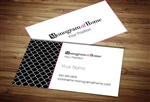 Monogram at Home Business Card Template 3