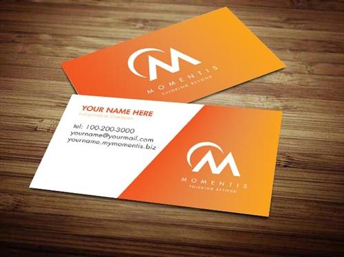 momentis business card design 2