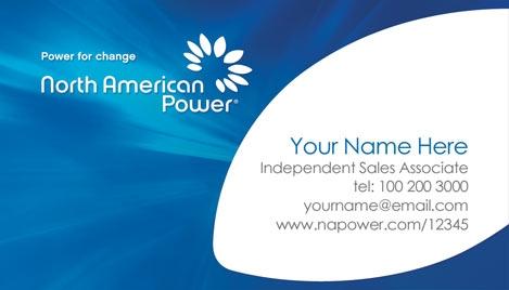 North american power business card design 2 colourmoves