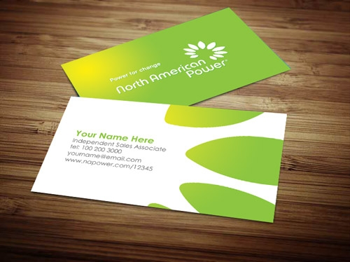 North american power business card design 3 colourmoves