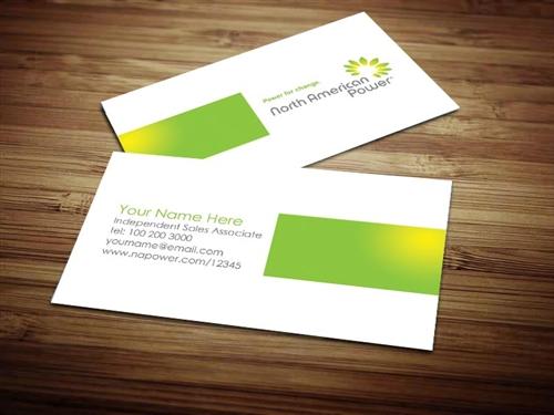 North american power business card design 4 colourmoves