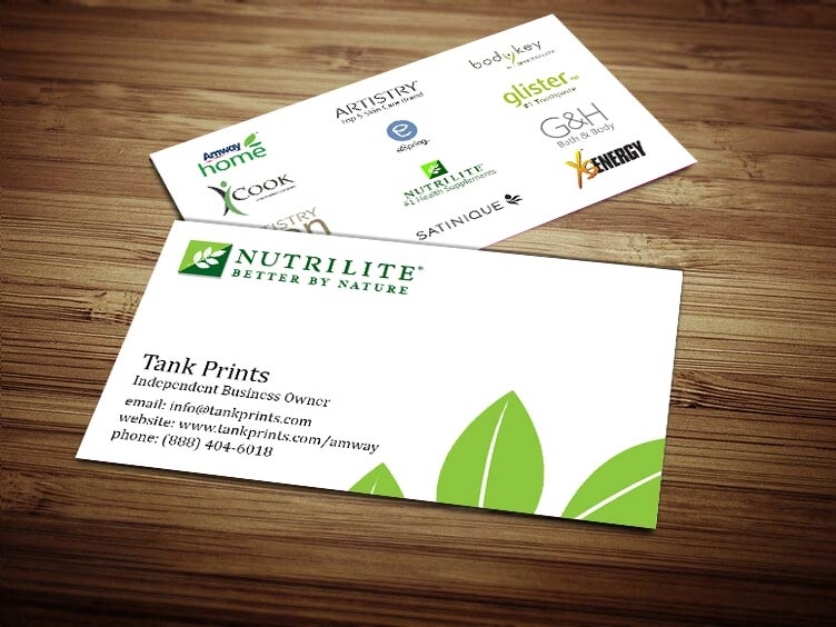 Nutrilite Business Card Design 1