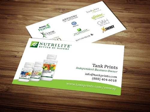 nutrilite business card designs 2