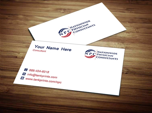 Nationwide physician consultants business card design 1 colourmoves