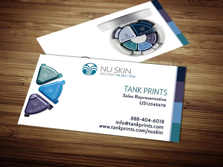Nu skin business card design 6 colourmoves