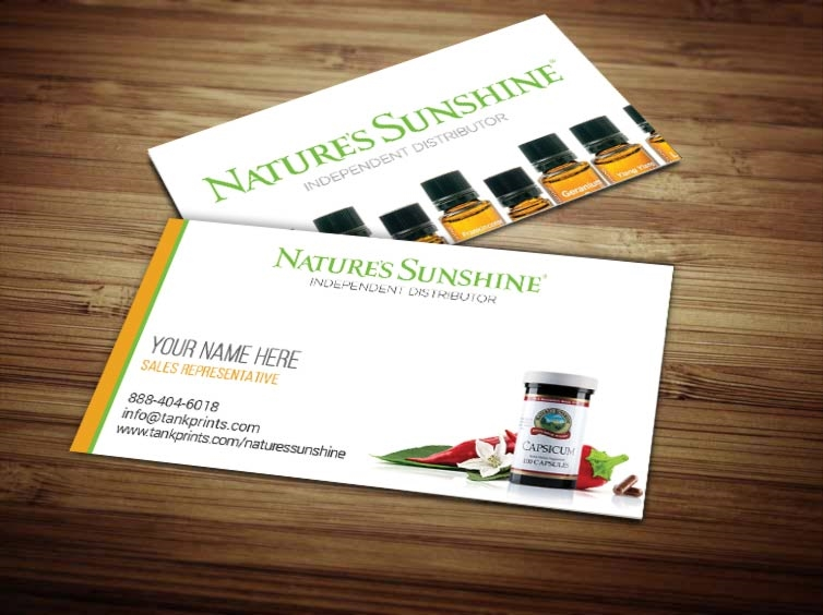 Natures sunshine business card design 2 reheart Image collections