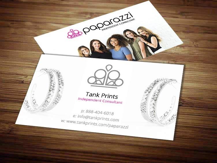 paparazzi business cards tank prints