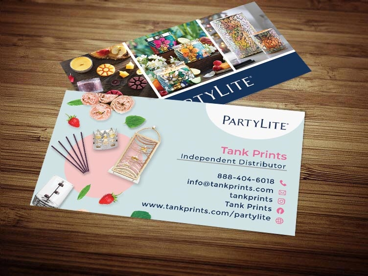 party lite business card design 2