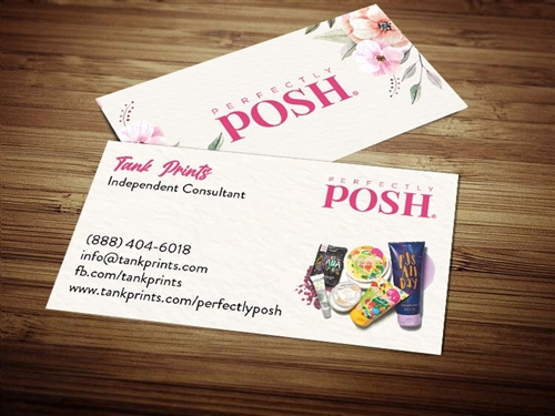 perfectly posh business cards template