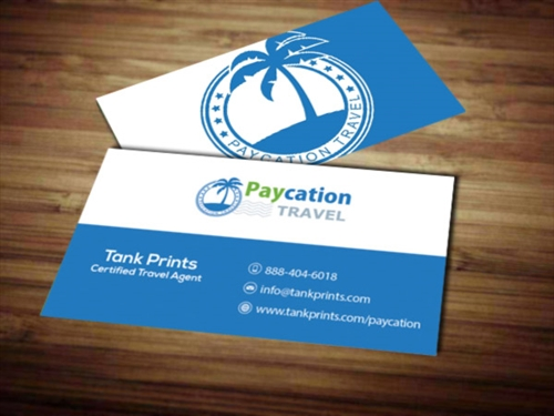 Paycation business card 5 tank prints for Paycation business cards