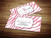 pink zebra business cards 1