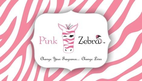 Pink zebra business card design 1 colourmoves