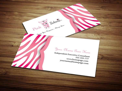 Pink zebra business card design 4 colourmoves