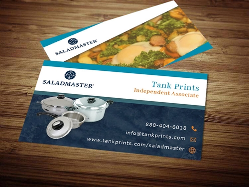salad master business card templates