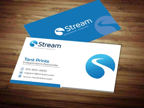 stream energy business cards tank prints