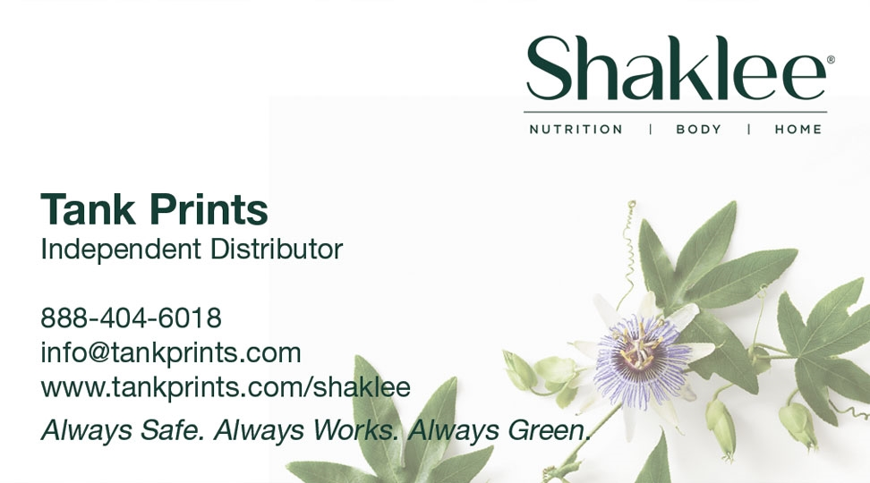 Shaklee Business Card Design 1