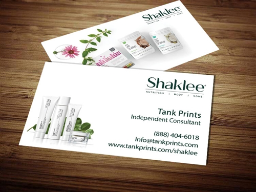 Shaklee business card template 2