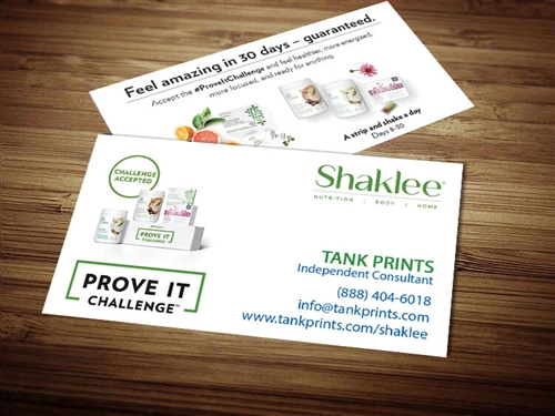 Shaklee business card template 3