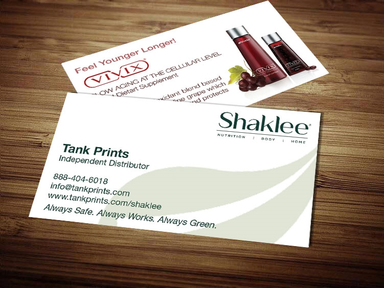 Shaklee 180 business card template 1