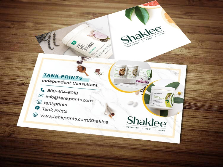 Shaklee 180 business card template 2