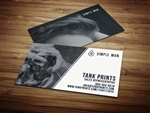 Simple Man Business Card Design 2