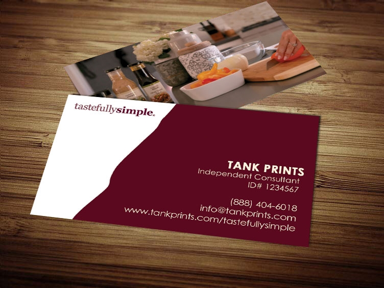 Tastefully Simple Business Card Design