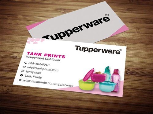 tupperware business cards