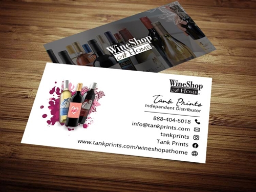 wine shop at home business cards