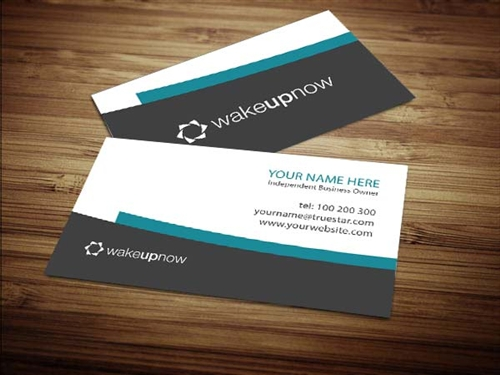 Wake up business card design 2 reheart Images