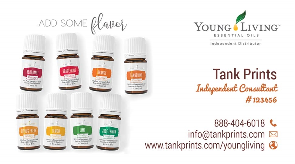 Young Living Business Cards | Tank Prints