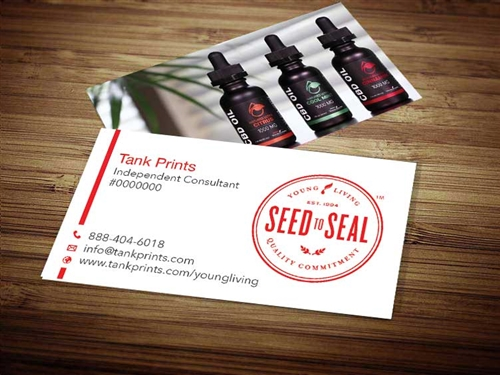 young living oils business cards