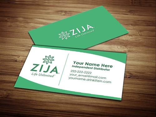 zija international business cards 2