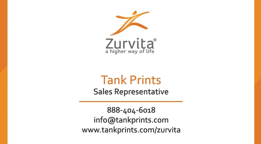 Top Zurvita Business Card Design 1 TF72