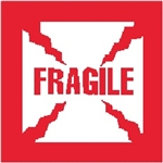 "DL-1010: 4"" X 4"" FRAGILE LABEL"