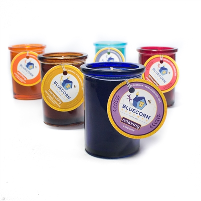 Aromatherapy Beeswax Glass Candle - 6oz.