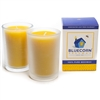 Raw Beeswax 8.5 oz Heavy Glass Candle
