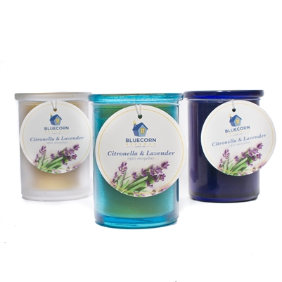 Citronella-Lavender 6 oz. Recycled Glass Candle