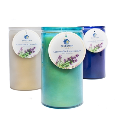 Citronella-Lavender 16 oz. Recycled Glass Candle