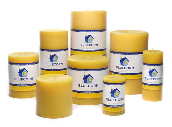 Pure Beeswax Pillars - CLEARANCE