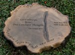 Bog wood plaque engraved for any occasion.