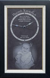 Created with baby's image & details. Perfect family gift keepsake.