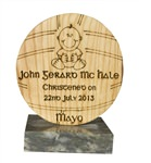 Personalized gift for birth or Christening of baby to Gaa loving Irish parents