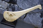 Engraved Hurley (hurl) with image of young hurler and personalised with details of award or occasion