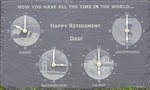 Personalised retirement clock gift for Dad