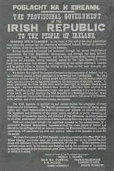 1916 Irish Proclamation on laser engraved slate