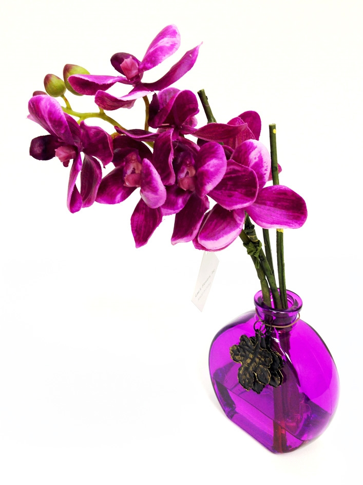 Buy Online Purple Phalaenopsis Orchid Real Touch Artificial Flower
